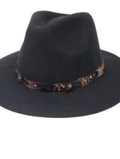 Black Feather Trim Hat