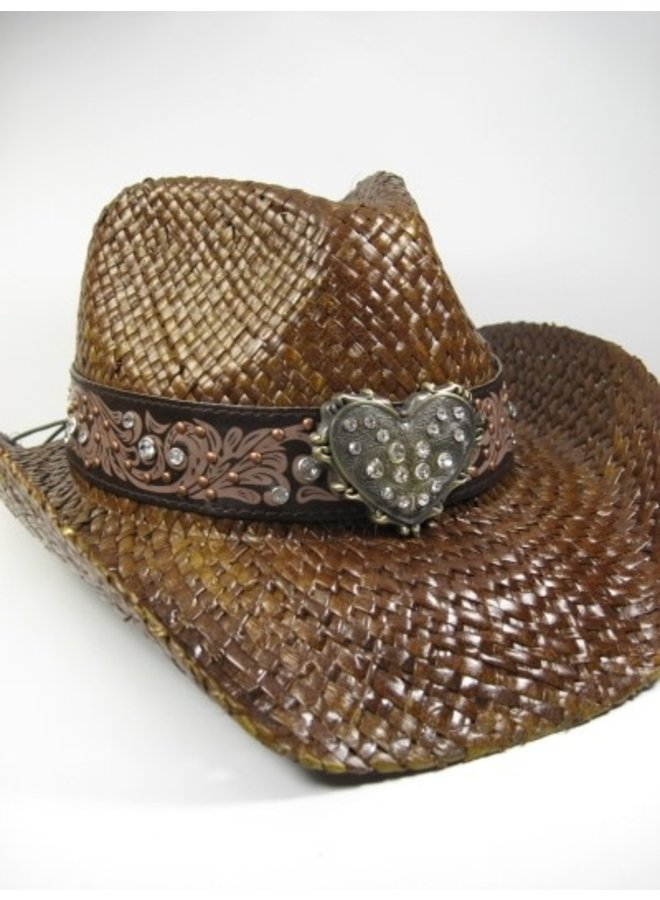 Cowboy Hat with Heart Detail