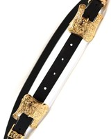 Double Buckle Belt- Gold