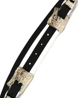 Double Buckle Belt- Silver