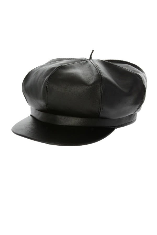 Too-Too Hat  Pleather Newsboy Cabby Cap