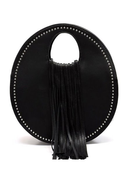 Fringe Studded Round Purse