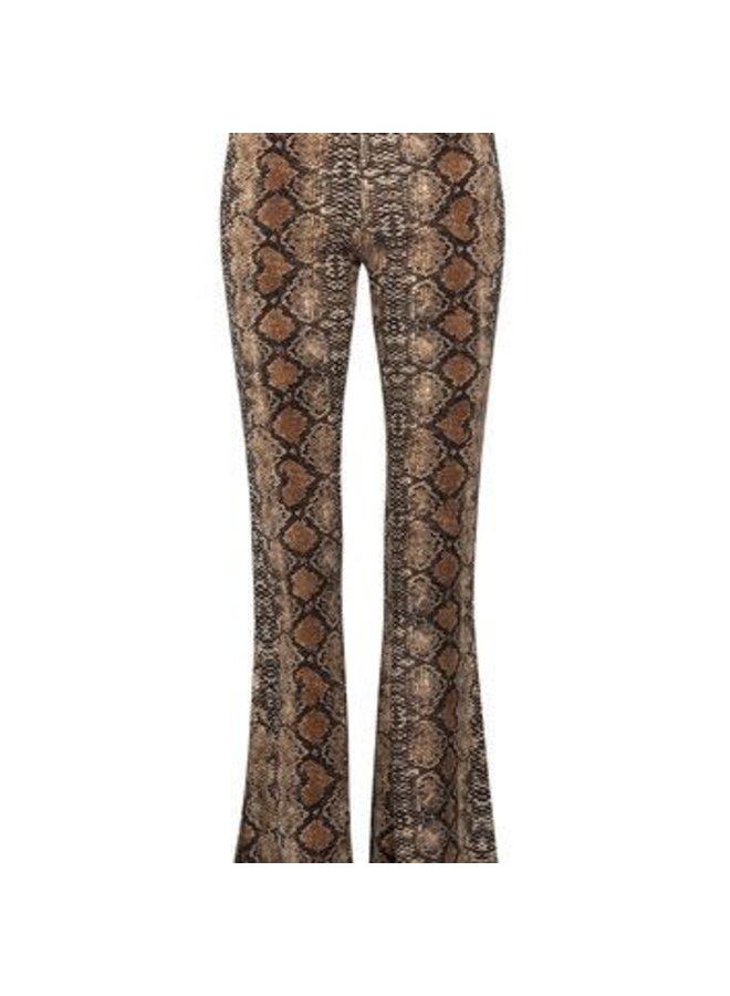 Brown Snake Boho Pants