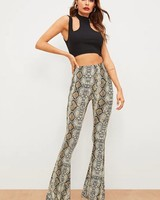 Brown Snake Boho Pants