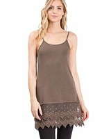 Dark Olive Lace Slip Dress