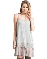Grey Lace Slip Dress