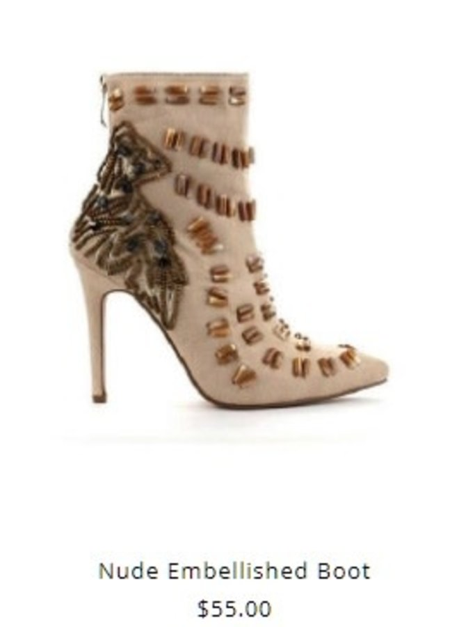 Embellished High Heel Bootie