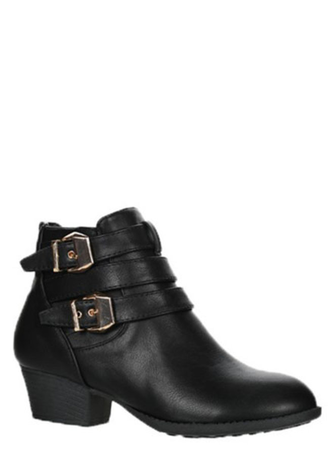 Bootie with side buckle
