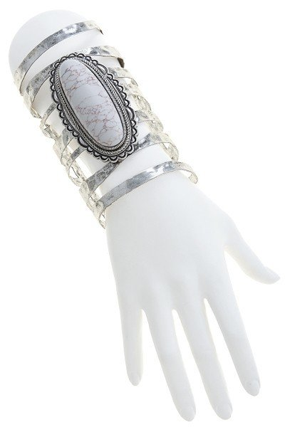 Oversized Faux Stone Thick Cuff