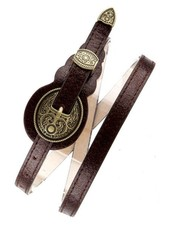 Brown Distressed Western Skinny Belt