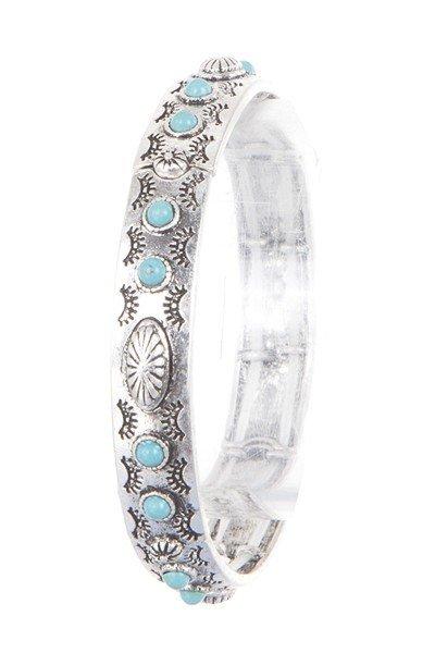 Silver Aztec Flower Bracelet
