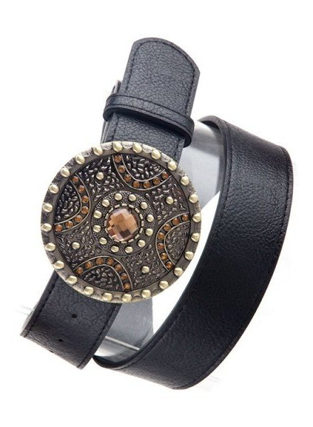 Black Shield Elegant Belt