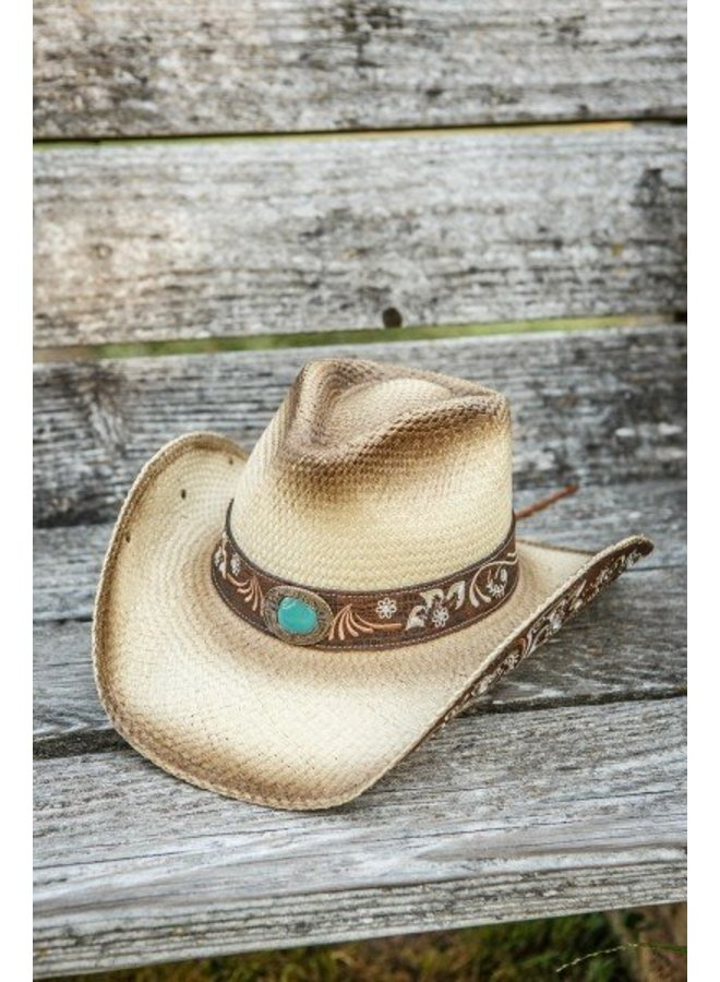 Natural Woman's Western Hat