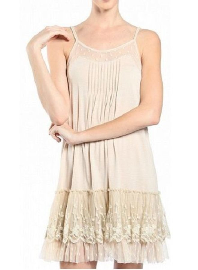 Cream Slip Dress
