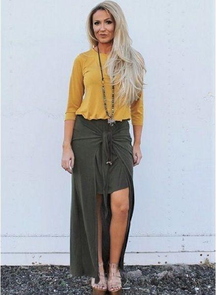 Mini  with Maxi Skirt