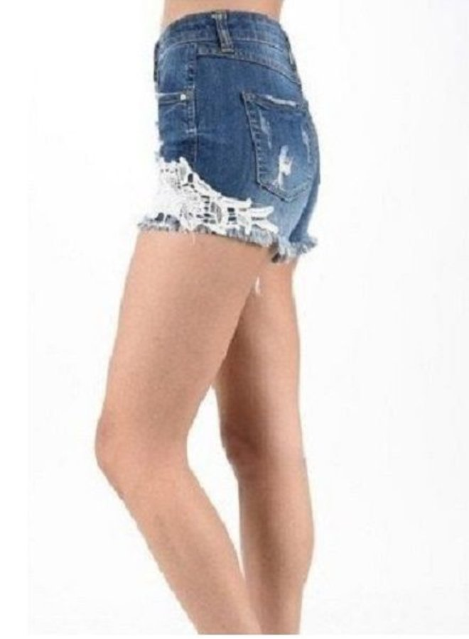 High Rise Lace Shorts