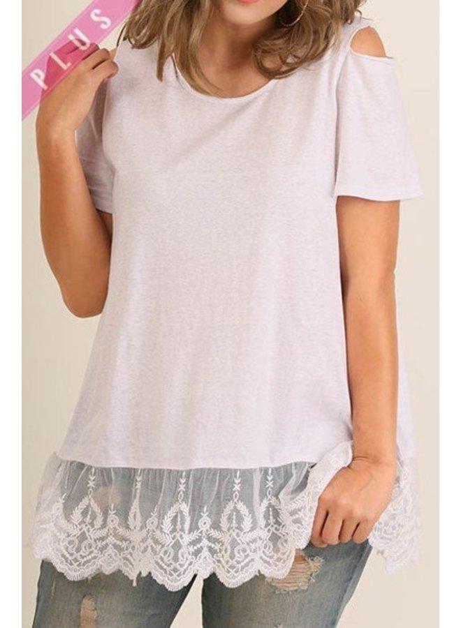 White Drop Lace T-Shirt