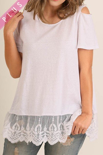 White Drop Lace T-Shirt