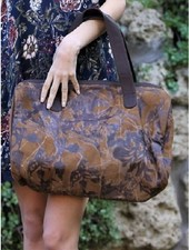 Brown Suede Burn Out Bag