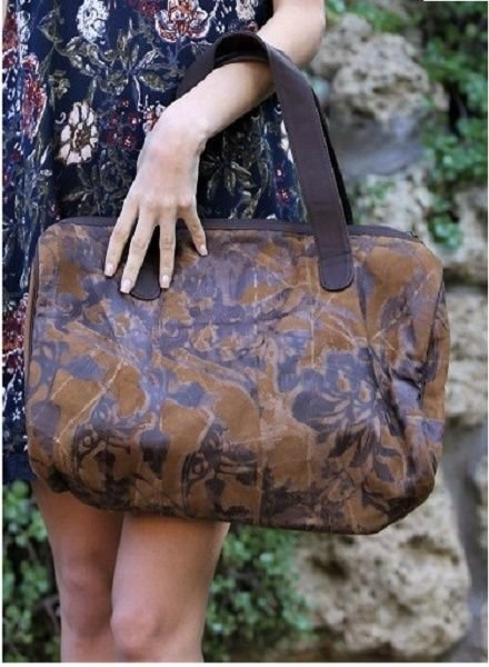 Brown Suede Burn Out Bag