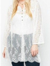 Lace Button Up Tunic