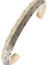 Floral Etched Cuff Bracelet