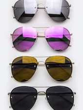 Aviator Sunglasses - Only Pink Tint Available