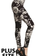 Floral Plus Size Leggings