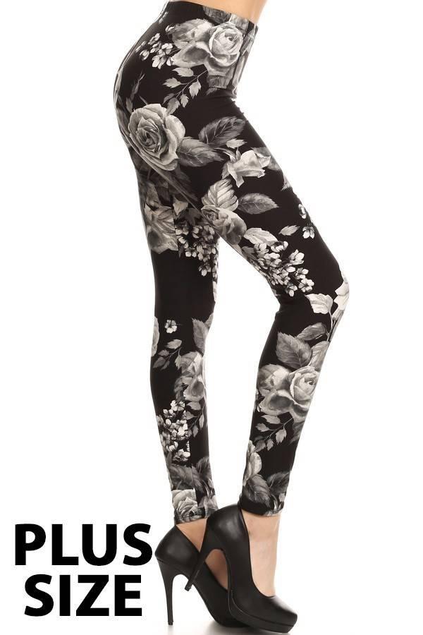 Floral Plus Size Leggings