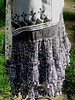 Grey Velvet Hand-Beaded Gypsy Vest