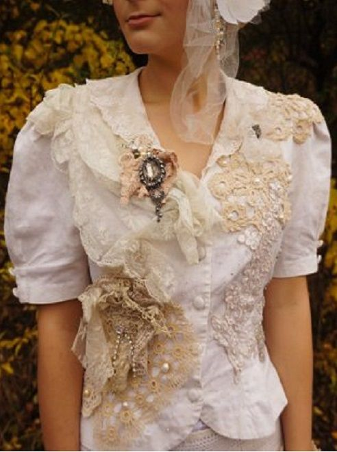 Victorian Retro Boho Bridal Jacket