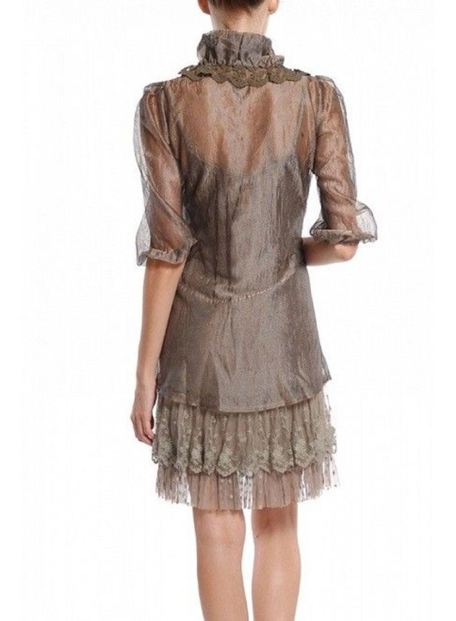 Olive Ruffle Dress