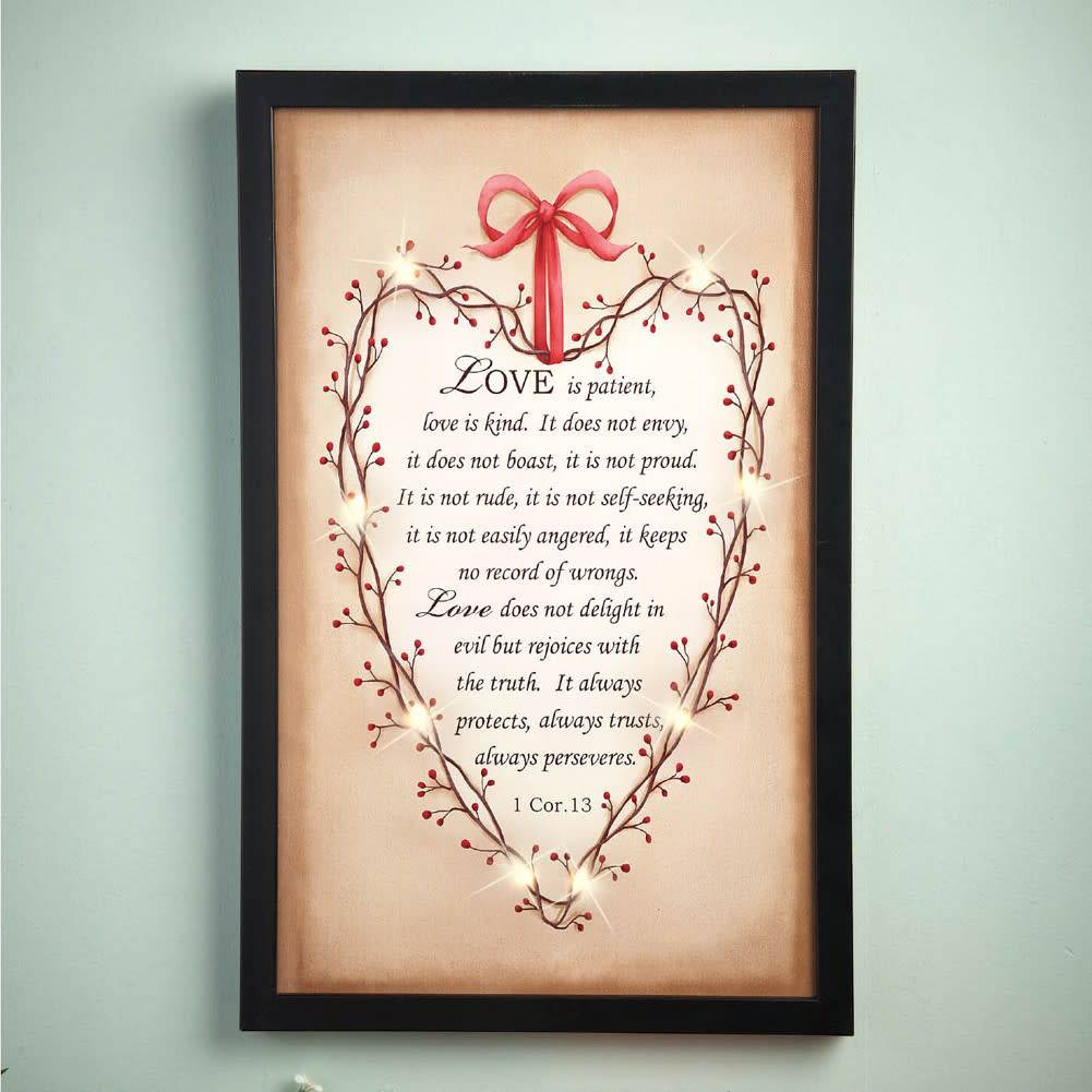 Lighted Country Bible Wall Art