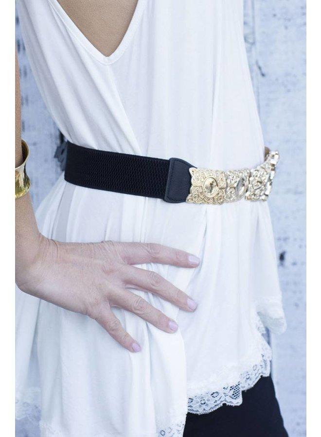 Black Elastic Belt