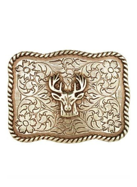 Gold Deer Head Buckle
