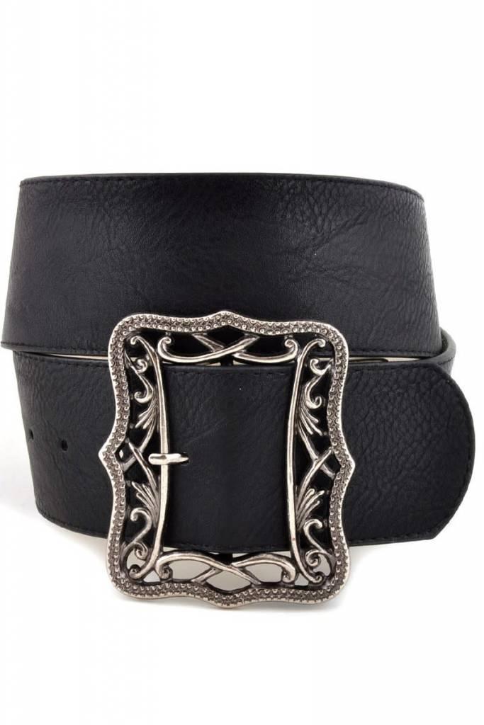 Black Wide Belt