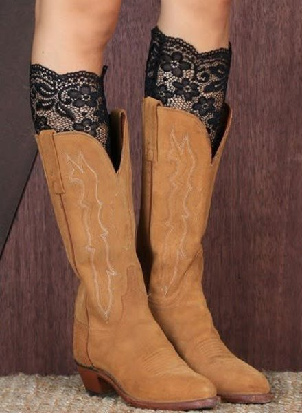 Black Lace Boot Topper
