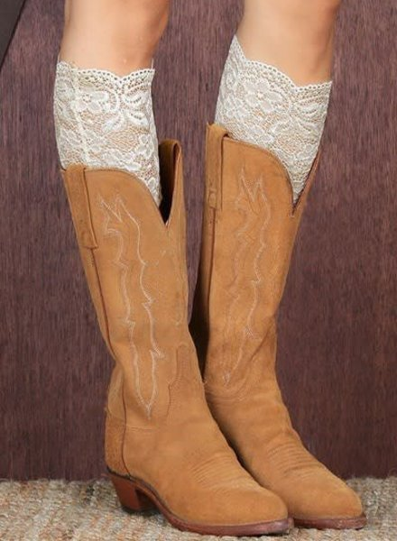 Ivory Lace Boot Topper