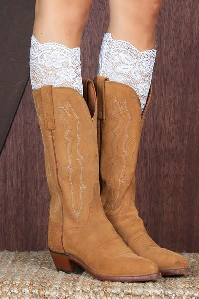 White Lace Boot Topper