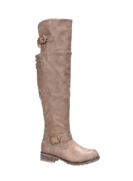 Taupe Vintage Oil Wash Tall Boots
