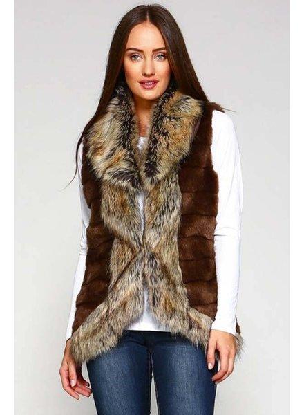 Brown Fur Inspired Vest