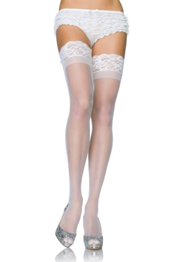 Sheer Thigh Highs Lace Top