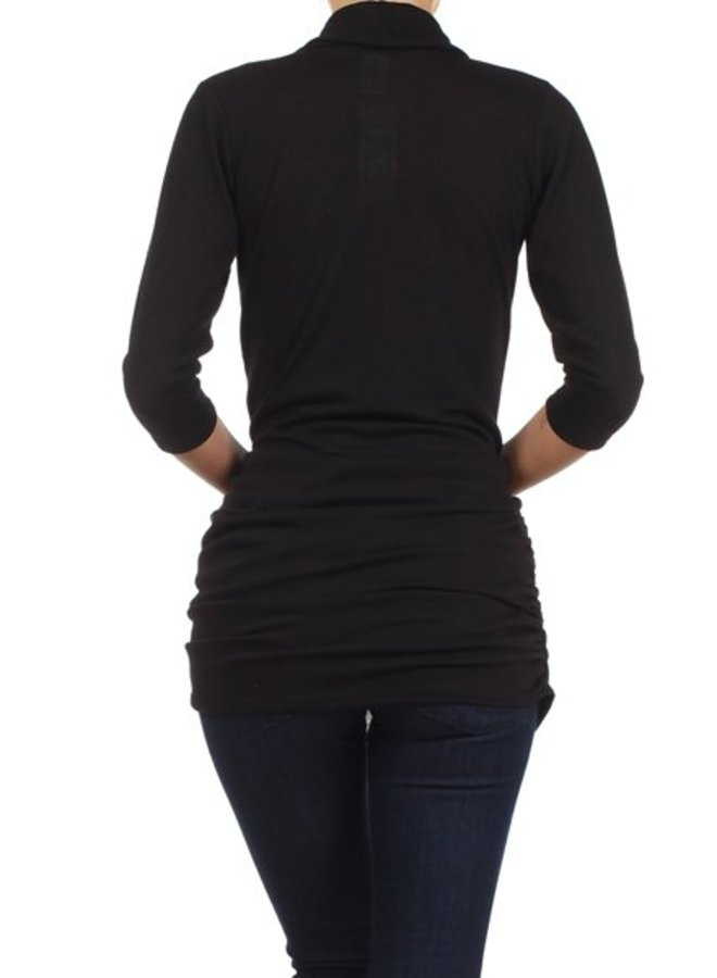 Solid Color Wrapped Fitted Top