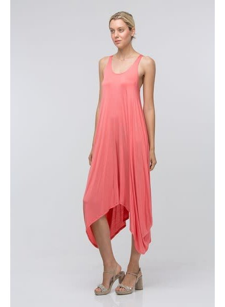 Coral Maxi Tank Dress