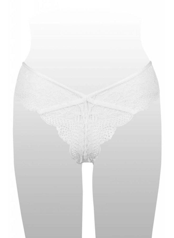 White Floral Lace Bikini Panty