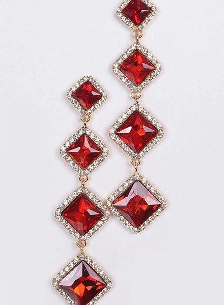 Rhombus Crystal Earring
