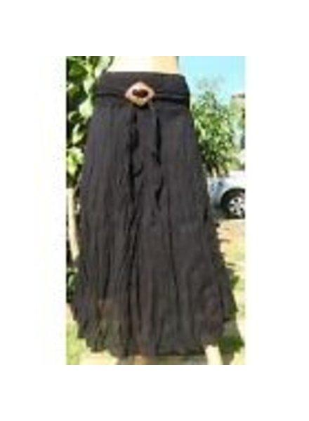 Boho Hippy Crinkle Maxi Skirt