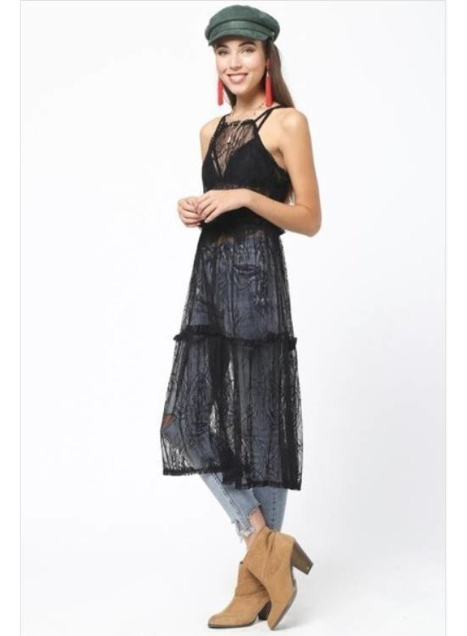 Bohemian Lace Overlay Dress