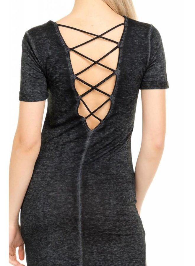 Black Back Strap Maxi Dress