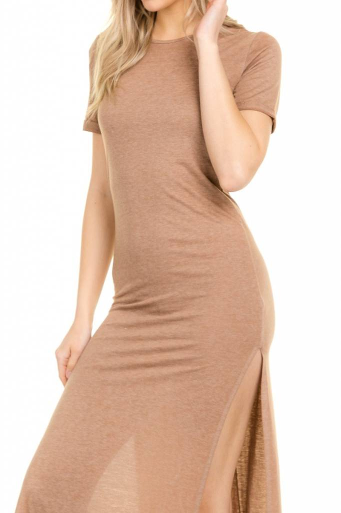 Taupe Back Strap Maxi Dress